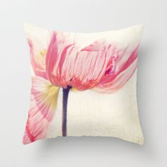 Isis. Poppy flower photograph Throw Pillow by Myan Soffia - $20.00