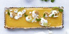 Lemon curd taart met meringue