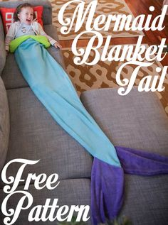 Mermaid Tail Blanket: Free Pattern!!!!!!!!!!!!!!!!!!!!  #christmasgiftideas #freepattern #kids #handmadechristmas