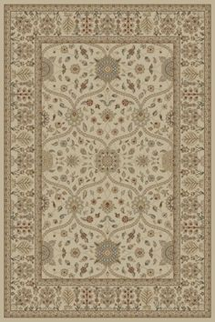 Concord Global Jewel Voysey Ivory Tonel (4901) Area Rugs