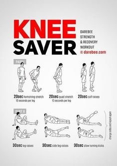 Knee exercises to strengthen muscles and reduce pain
