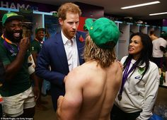 Prince Harry congratulates South African rugby team on their World Cup final victory over England Cycling Quotes, Cycling Art, South African Rugby, Women's Cycling Jersey, Cycling Jerseys, World Cup Final, Rugby World Cup, Farm Hero Saga, Bicycle Design