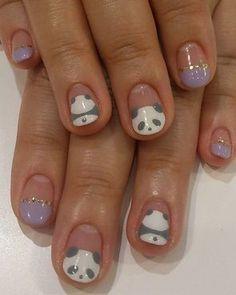 Image via   Panda nail art designs