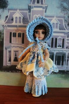 """Especially made """"MINI SIMPLEY VINTAGE"""" Dress for your 10"""" Patsy/Ann Estelle Doll #DollswithClothingAccessories"""