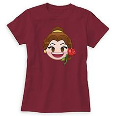Back to basics never looked better than with this best-selling women's tee by American Apparel. Belle is pictured as a cute Emoji character on this customizable shirt inspired by Disney's classic <i>Beauty and the Beast</i>.