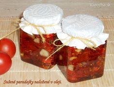Sušené paradajky naložené v oleji (fotorecept) - Recept Pudding, Jar, Homemade, Food, Home Made, Essen, Puddings, Diys, Yemek