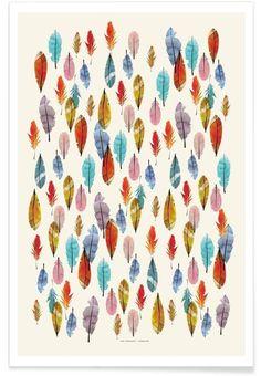 Feathers als Premium Poster von The Wall Shop | JUNIQE