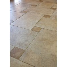 kitchen floor idea - Various square sizes