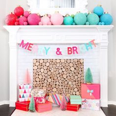 Holiday Decorating Ideas from Instagram   Apartment Therapy Merry Christmas, Whimsical Christmas, Christmas 2019, Christmas Mantels, Pink Christmas, Christmas Holidays, Xmas, Christmas Bunting, Christmas Inspiration