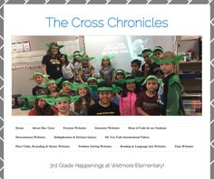 A great example of a third grade class blog by Kelly Cross.