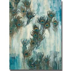 Amazon.com - Proud as a Peacock by Liz Jardine Premium Stretched Oversize Canvas (Ready to Hang)