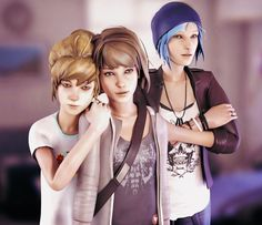 Life Is Strange - Max , Kate and Chloe by ICYCROFT on DeviantArt
