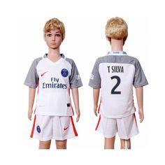 PSG Trøje Børn 16-17 #T Silva 2 3 trøje Kort ærmer.199,62KR.shirtshopservice@gmail.com