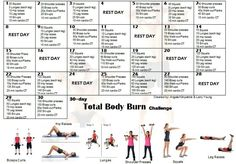 total body workout challenges - Google Search
