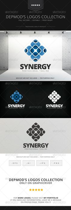 Synergy Logo — Vector EPS #clean #sharing • Available here → https://graphicriver.net/item/synergy-logo/7964465?ref=pxcr