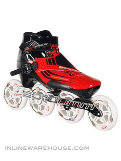 BONT Semi Race Inline Speed Skates Red 3pt Mount Inline Speed Skates, Inline Skating, Roller Skating, Rollers, Skate Shoes, Mtb, Racing, Sports, Bicycles
