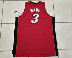 NWT Authentic ADIDAS SWINGMAN Miami Heat Dwyane Wade NBA RED Jersey  Men s 3XL