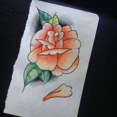 traditional orange rose