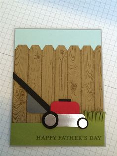 Father's Day mower punch art with stampin up supplies