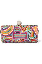 Emilio Pucci Printed textured-leather clutch