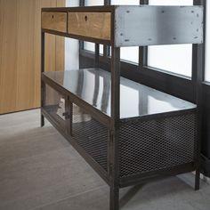 Console en métal et 2 tiroirs en bois Double Zéro Guibox