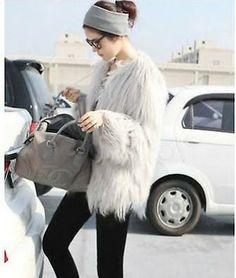 faux fur white coat - Google Search