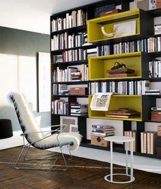 Contemporary wooden bookcase by Antonio Citterio - FLAT.C - ArchiExpo Wooden Bookcase, Bookcase Shelves, Built In Bookcase, Bookcases, Wall Storage Systems, Italia Design, Bookshelf Design, Home Libraries, Prefab Homes