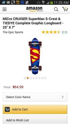 Micro cruiser, superman skateboard