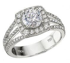 Engagement Ring : WS224SCD #WeddingRings #EngagementRings #DiamondRings #PeterStorm