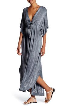 American Twist - Tie-Dye Dolman Maxi Dress