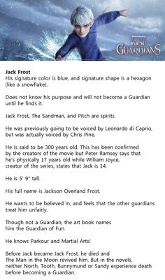 Interesting Fact of Jack Frost #ROTG