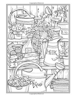 Amazon Creative Haven Country Charm Coloring Book Adult 0800759821686 Pattern PagesPrintable