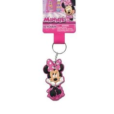 Disney Minnie Mouse Laser Cut Keychain- Body Rubber Keyring @ niftywarehouse.com #NiftyWarehouse #Disney #DisneyMovies #Animated #Film #DisneyFilms #DisneyCartoons #Kids #Cartoons