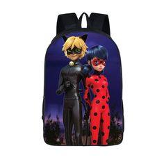 Anime Printing School Bag Miraculous Ladybug Backpack Marinette School Backpacks Cat Noir Backpack For Children Fashion Book Bag