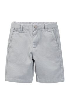 Frenchie Mini Couture Grey Chino Short (Baby, Little Boys,
