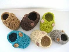 Crochet Dreamz: Boy's Striders Crochet Baby Booties (pdf pattern for sale)