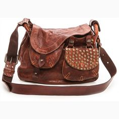 c2a9ba2df025 Campomaggi Washed Leather Shoulder Bag - Cognac by Campomaggi Custodia In  Pelle