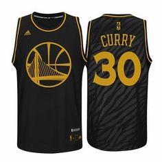 61cbbbb7c60 Golden State Warriors adidas Stephen Curry  30 Precious Metal Swingman  Jersey - Black Nba Uniforms