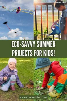 The summer holidays are a great time for the kids to unwind after a hectic school year. But when they're bored, instead of handing over the remote control or game console, consider these fun and eco-friendly alternatives to keeping your little ones occupied and teaching them a thing or two about the environment too! Check out these 5 low-cost activities to keep the kids and the #environment happy! #GreenLivingTips #Ecofriendly #Summer #Kids #SummerTips #KidsGoGreen #GoGreen #SummerProjects Outdoor Activities, Activities For Kids, Green Living Tips, Eco Friendly Toys, Kids Health, Mindfulness For Kids, Business For Kids, Happy Kids, Healthy Kids