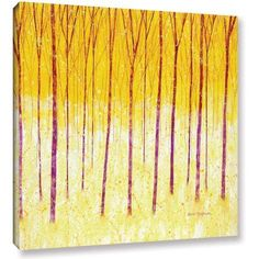 Herb Dickinson Fairy Forest Gallery-Wrapped Canvas, Size: 24 x 24, Red