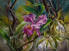 Ressam Vie Dunn-Harr , 1953 Texas (ABD)de doğdu.  O, inanılmaz bir çiçek resim sanatçısı. Onun sanatsal yeteneklerini bu çiçe...
