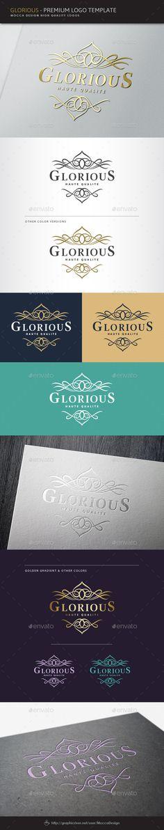 Glorious Logo: Logo Crests Design Template by MoccaDesign. Jewelry Logo, Jewelry Branding, Crest Logo, Flower Logo, Logo Design, Graphic Design, Wedding Logos, Logo Restaurant, Cool Logo