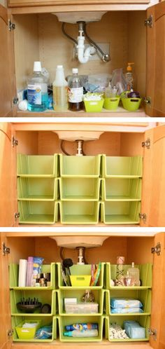 12 Amazing Kitchen Sink Organization Ideas You'll Regret Not Trying - Organisation & Ordnung - Dream houses Diy Kitchen Storage, Bathroom Storage, Organizing Ideas For Kitchen, Organization Ideas For The Home, Small Kitchen Ideas Diy, Bathroom Sinks, Bathroom Sink Organization, Diy Bathroom, Ideas For Small Homes