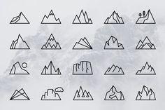 Building Link 497788565063827832 - Simple Line Mountains + Bonus Logos by Adrian Pelletier on Creative Market Source by Simple Illustration, Mountain Illustration, Building Illustration, Geometric Mountain Tattoo, Geometric Nature, Geometric Drawing, Simple Geometric Designs, Simple Designs, Mountain Logos