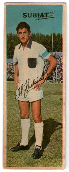 figurita tarjeton futbol 1968 subiat nº125 platense