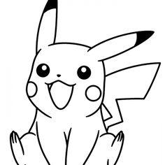 Dibujos Pikachu para dibujar, imprimir, colorear y recortar fácilmente