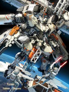 "/m/ art - ""/m/ - Mecha"" is imageboard for discussing Japanese mecha robots and anime, like Gundam and Macross. Armored Core, Mecha Suit, Gundam Wallpapers, Cool Robots, Sci Fi Armor, Takayama, Robot Concept Art, Gundam Art, Tokyo Otaku Mode"