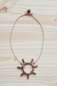 Bronze sun necklace