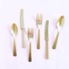 Gold Utensil Set