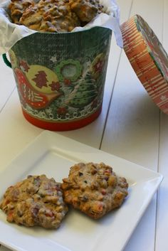 Fruitcake Cookies: these cookies are more like a chewy, nutty spice cookie. Even people who dislike fruitcake love these cookies. :)